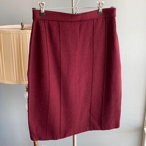 St. John burgundy skirt size 2